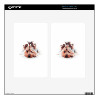 Yorkie Dog Love Yorkies Yorkshire Terrier Skin For Kindle Fire