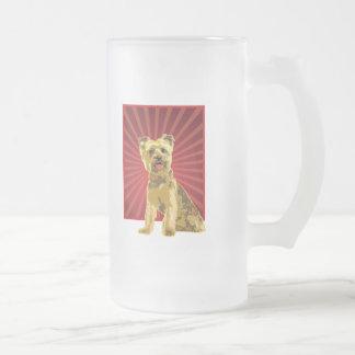 Yorkie Dog Owner Frosted Glass Beer Mug