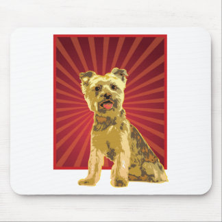 Yorkie Dog Owner Mouse Pad