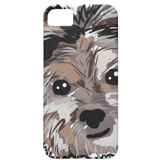 Yorkie Dog Pup Face Sketch iPhone SE/5/5s Case