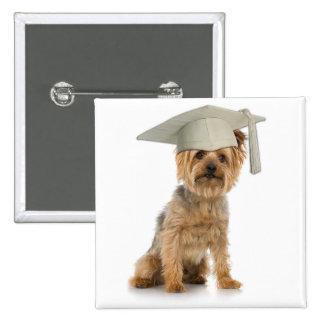 Yorkie Dog with Graduation Hat Pins
