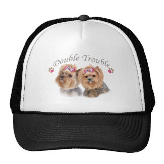 Yorkie Double Trouble Apparel Hats