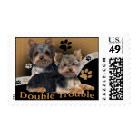 Yorkie Double Trouble Postage