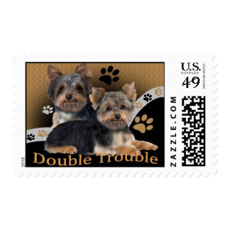 Yorkie Double Trouble Postage
