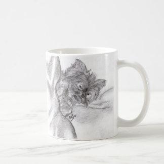 Yorkie Drawing Classic White Coffee Mug