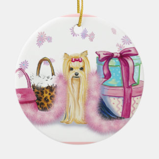 Yorkie Dress Up Ornaments