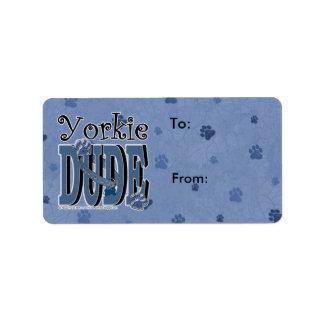 Yorkie DUDE Address Label