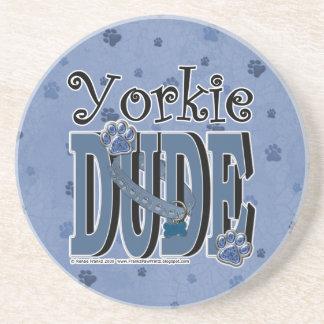 Yorkie DUDE Beverage Coasters