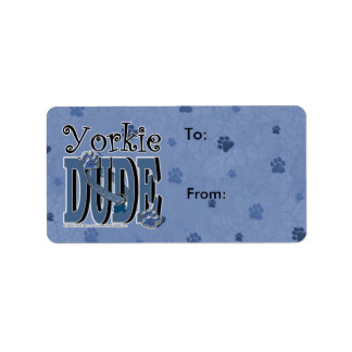 Yorkie DUDE Label