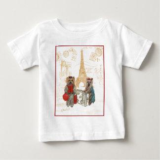 Yorkie Eiffel Tower Paris Baby T-Shirt