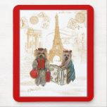 Yorkie Eiffel Tower Paris Mouse Pad