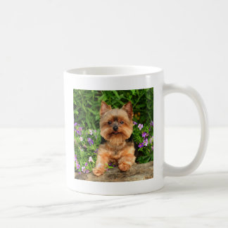 Yorkie flowers coffee mug