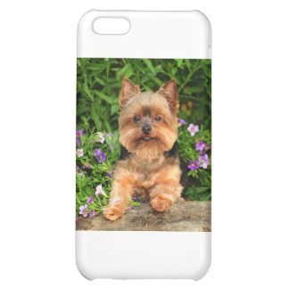 Yorkie flowers cover for iPhone 5C