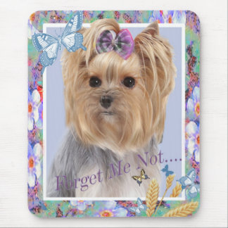 Yorkie Forget Me Not Mousepad