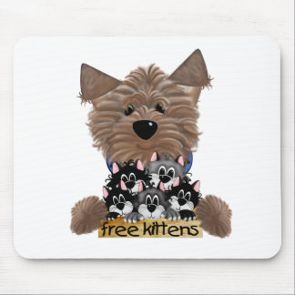 Yorkie free Kittens Mouse Pad