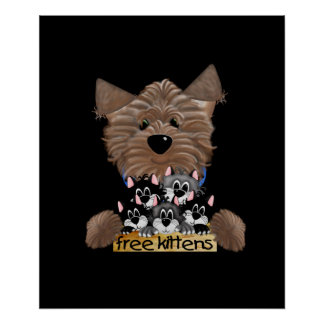 Yorkie free Kittens Poster