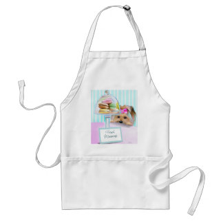 Yorkie French Macarons Adult Apron