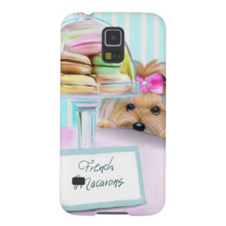Yorkshire Terrier French Macarons Custom Galaxy Cover