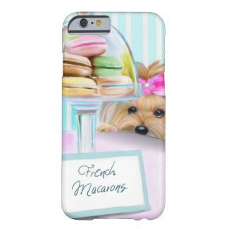 Yorkshire Terrier French Macarons Barely There iPhone Case
