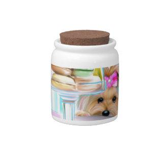 Yorkie French Macarons Candy Jars