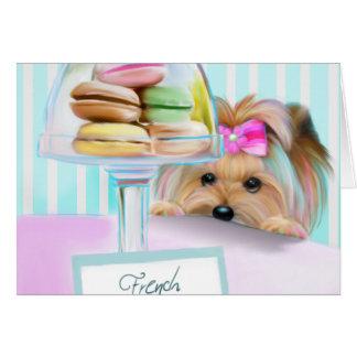 Yorkie French Macarons Card