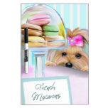 Yorkie French Macarons Dry-Erase Board
