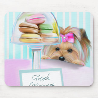 Yorkie French Macarons Mouse Pad
