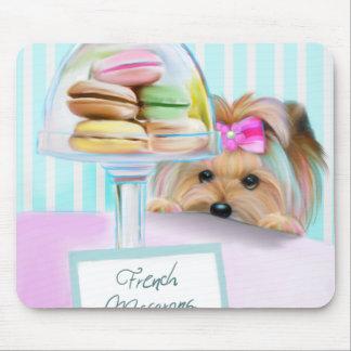Yorkie French Macarons Mousepads