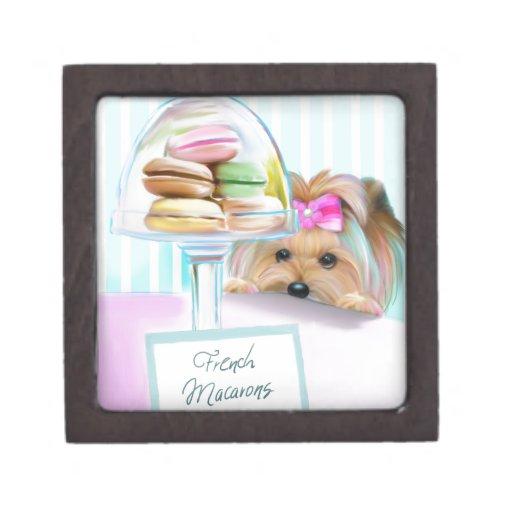 Yorkie French Macarons Premium Jewelry Box