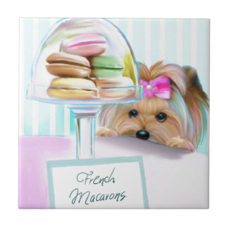 Yorkie French Macarons Tile