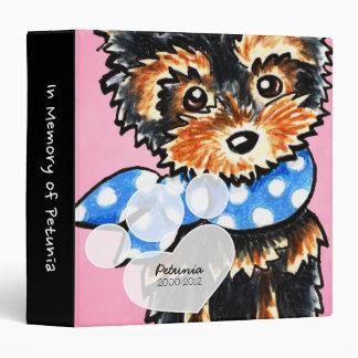 Yorkie Girl Pink Pet Name Keepsake Album Binder