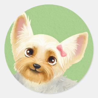 Yorkie Girl Sticker
