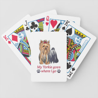 YORKIE GOES WHERE I GO BICYCLE PLAYING CARDS
