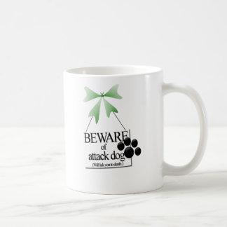 Yorkie-Guárdese de perro de ataque Taza De Café