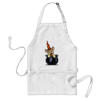 Yorkie Halloween Good Witch Off-Leash Art™ Adult Apron