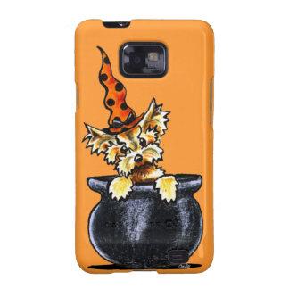 Yorkie Halloween Good Witch Off-Leash Art™ Samsung Galaxy SII Cases