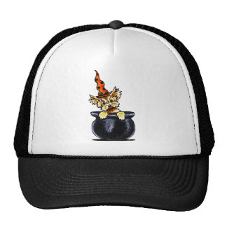 Yorkie Halloween Good Witch Off-Leash Art™ Trucker Hats