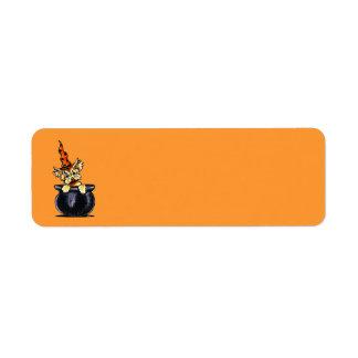 Yorkie Halloween Good Witch Off-Leash Art™ Label
