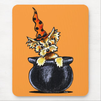 Yorkie Halloween Good Witch Off-Leash Art™ Mouse Pad