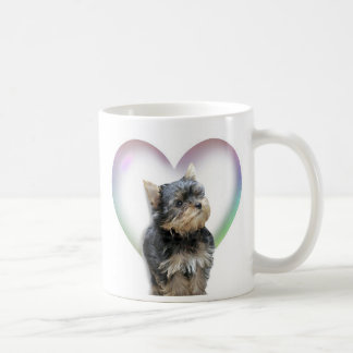 Yorkie Heart Coffee Mug