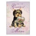 Yorkie Heart Mom Card