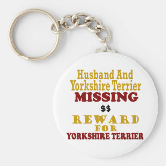 Yorkie & Husband Missing Reward For Yorkie Key Chains