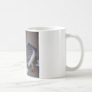 Yorkie in a Leopard Print Fur Coat Coffee Mug
