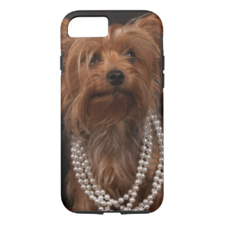 Yorkie in Pearl Necklace iPhone 7 Case