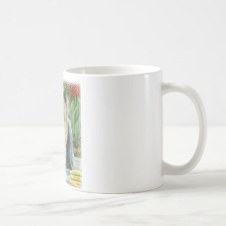 Yorkie in Tulips Art Print Coffee Mug