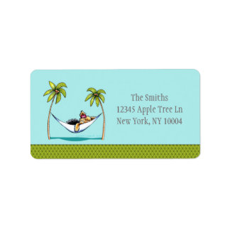 Yorkie Island Princess Off-Leash Art™ Address Label