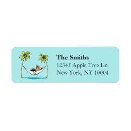 Yorkie Island Princess Off-Leash Art™ Aqua Label