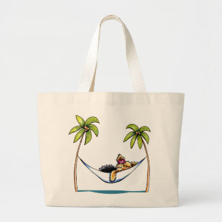 Yorkie Island Princess Off-Leash Art™ Large Tote Bag