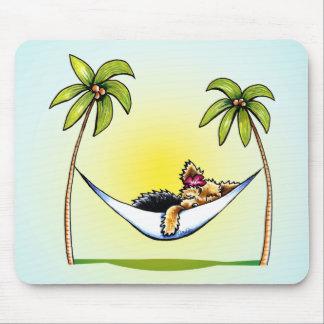 Yorkie Island Princess Off-Leash Art™ Mouse Pad