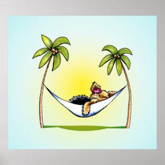 Yorkie Island Princess Off-Leash Art™ Print